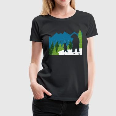 mom and baby bear christmas - Women's Premium T-Shirt