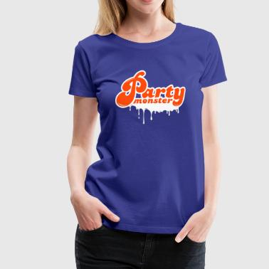 Party monster - Dame premium T-shirt