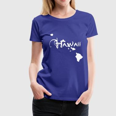 Hawaii, Trauminsel der Surfer Ukulelisten. - Frauen Premium T-Shirt