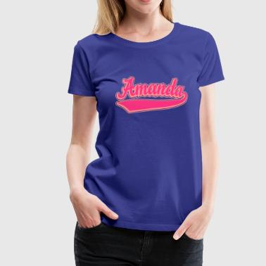 Amanda - Name as a sport swash. - Women's Premium T-Shirt