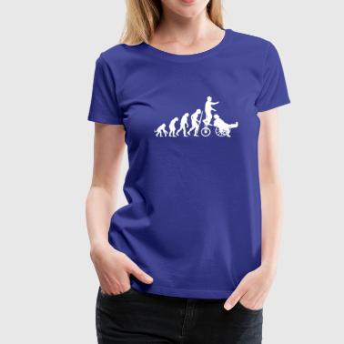 Evolution Theory hals und beinbruch  (circus clown) - Women's Premium T-Shirt