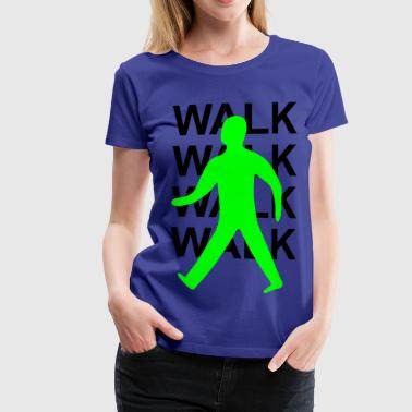 Green man walk! - Women's Premium T-Shirt