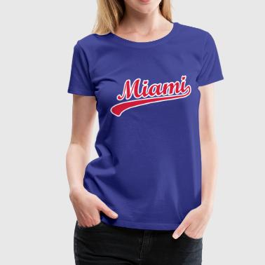 Miami Scroll - Women's Premium T-Shirt