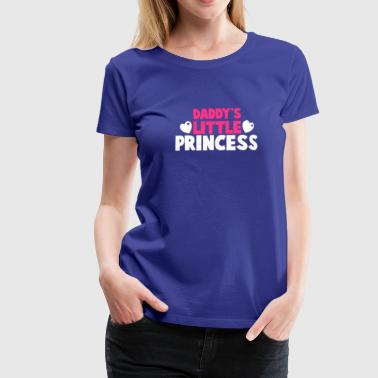 Daddys Princess Daddy's little PRINCESS with cute love hearts - Women's Premium T-Shirt