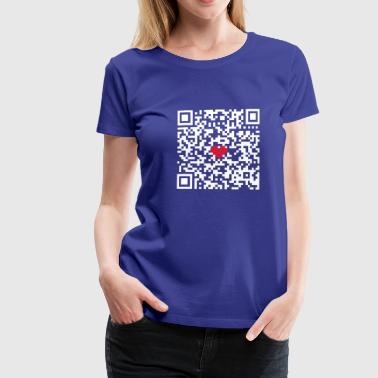 I love you! QR Code - funktioniert - Frauen Premium T-Shirt