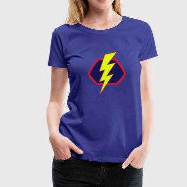Superhelden Superhero Comic Blitz Symbol - Frauen Premium T-Shirt