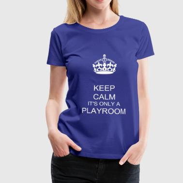 keep calm and carry on crown vector - Women's Premium T-Shirt