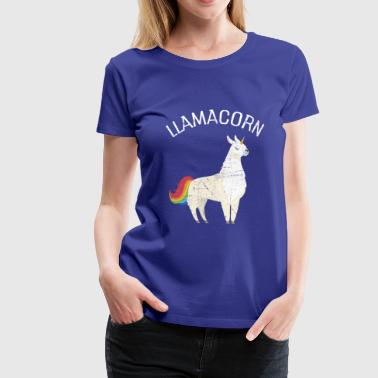 Llamacorn | Cute Llama Unicorn Illustration - Koszulka damska Premium