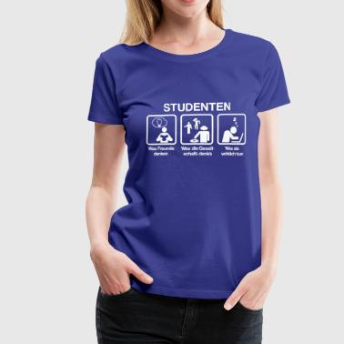 Studenten - What my friends think I do - Frauen Premium T-Shirt