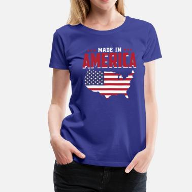 Made In Usa Made in America - Geboren in Amerika - USA Baby - Camiseta premium mujer