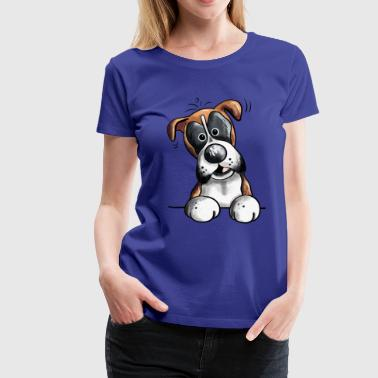 Happy German Boxer -  Deutscher Boxer - Women's Premium T-Shirt
