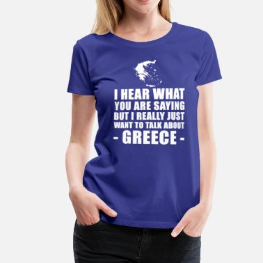 Greece Funny Greece Vacation Gift Idea - Women's Premium T-Shirt