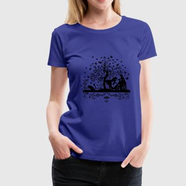 Rendezvous at the butterfly tree - Women's Premium T-Shirt