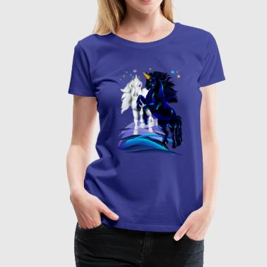 Two Unicorn Stallions - Women's Premium T-Shirt