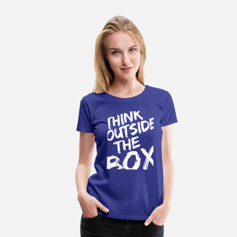 Creativo Camisetas - Think Outside The Box - Camiseta premium mujer azul real