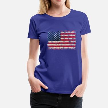 Stars And Stripes USA Flag - Women's Premium T-Shirt