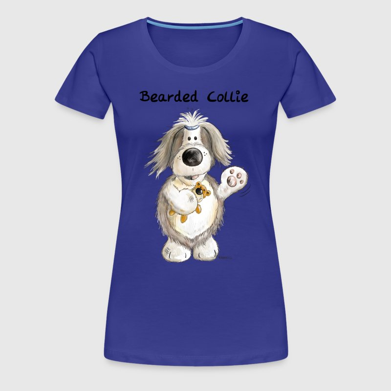 Bearded Collie With Teddy - Women's Premium T-Shirt