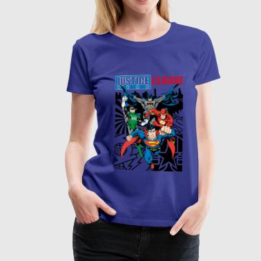 Justice League Comic Cover - Vrouwen Premium T-shirt