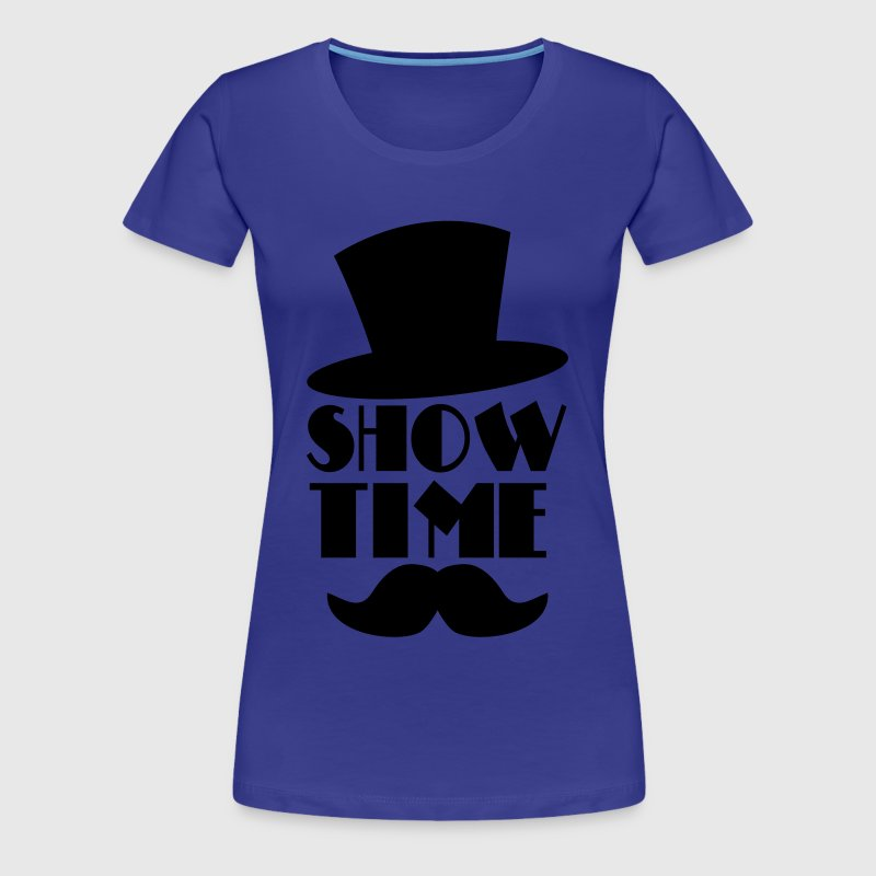 SHOW TIME clown circus hat and moustache  - Vrouwen Premium T-shirt