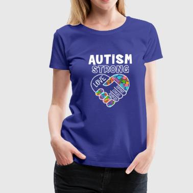 Autism strong love support educate advocate - Women's Premium T-Shirt