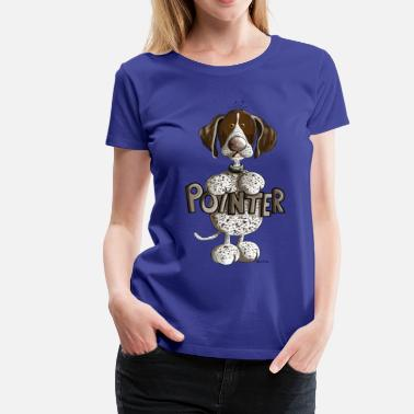 Caricature Happy German Shorthaired Pointer - Women's Premium T-Shirt
