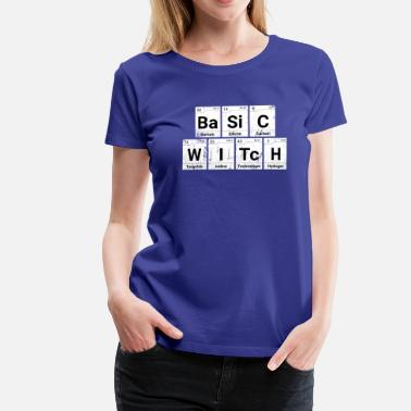 Wicca Basic Witch Ridset Halloween Periodic Table - Dame premium T-shirt