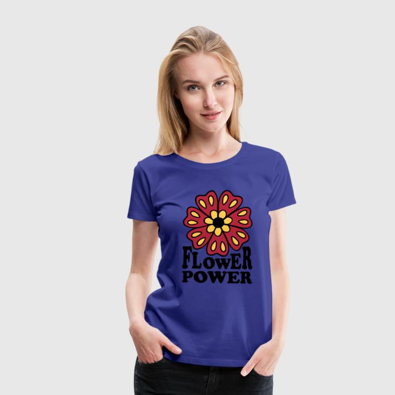 flower power Woodstock generation Hippie 70s  - Premium-T-shirt dam