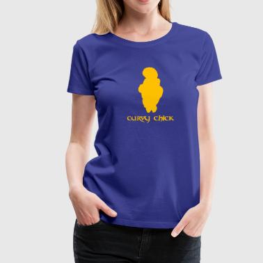 Oldtidens Curvy Chick - Dame premium T-shirt