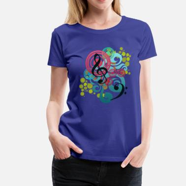 Music Swirl - Women's Premium T-Shirt