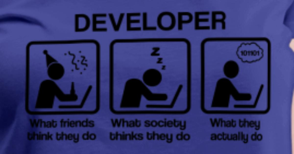 Developer What My Friends Think I Do By Nektarinchen