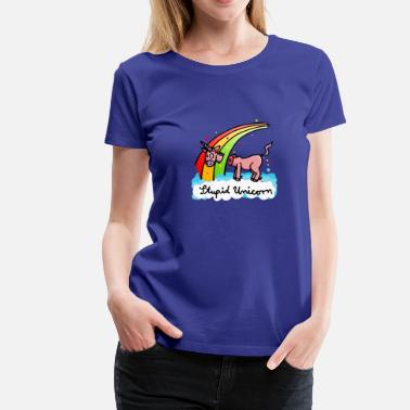 Funny The stupid unicorn loses his head Kids' Shirts - Women's Premium T-Shirt