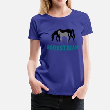 Writing Equestrian Writing - T-shirt Premium Femme