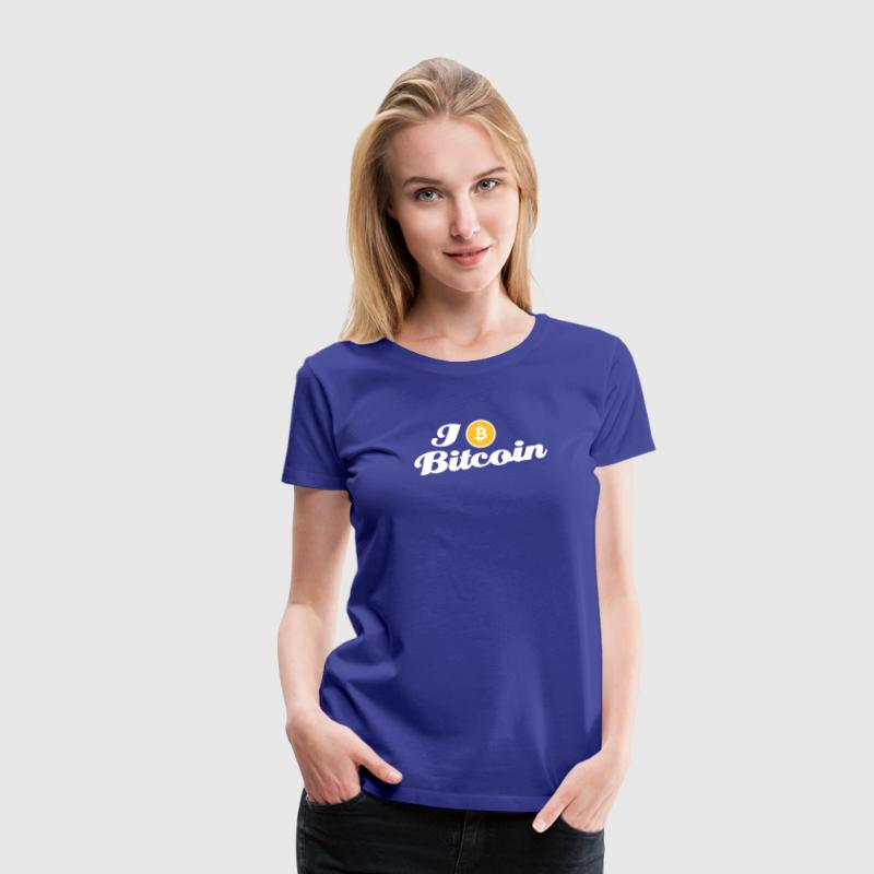 bitcoin, btc, i love Bitcoin - Premium T-skjorte for kvinner