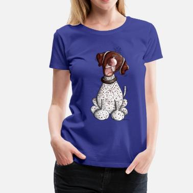 German Shorthaired Pointer Funny German Shorthaired Pointer - Women's Premium T-Shirt