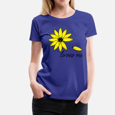 Love Me Loves me, loves me not - Premium-T-shirt dam
