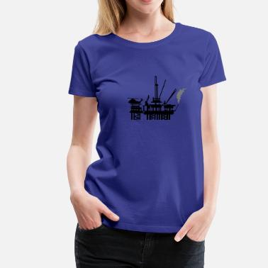 Rig Ölplattform / offshore oil rig (2c) - Women's Premium T-Shirt