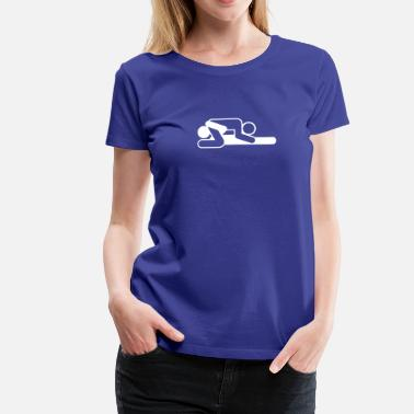 Cunnilingus Icons A Couple In 69 Position - Women's Premium T-Shirt