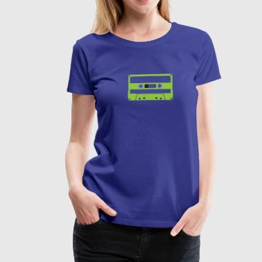 CASSETTE GREEN - Women's Premium T-Shirt