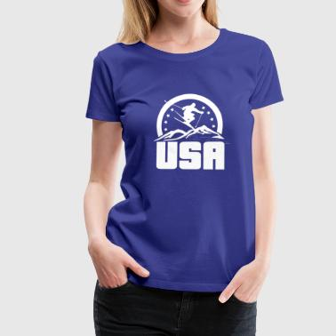 Alpine Skiing USA Ski Alpine skiing - Women's Premium T-Shirt