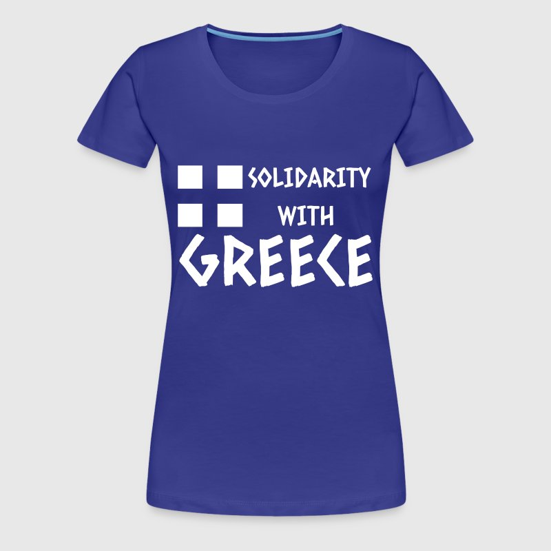 Solidarity with Greece - Frauen Premium T-Shirt