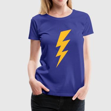 Blitze Hochspannung Blitz Logo Flash Hochspannung High Voltage - Frauen Premium T-Shirt