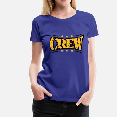 Colorful Crew Stamp color print crew's army - Women's Premium T-Shirt