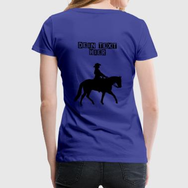 Ranch Riding Silhouette Westernreiterin - Frauen Premium T-Shirt