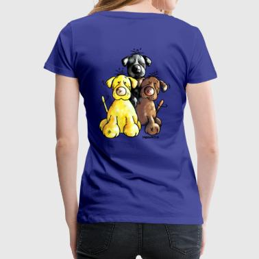 Labrador Retriever - Dog - Cartoon - Women's Premium T-Shirt