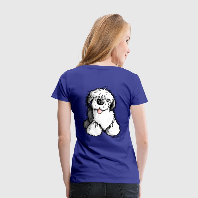 Bobtail hond komisch– Old English Sheepdog - Vrouwen Premium T-shirt