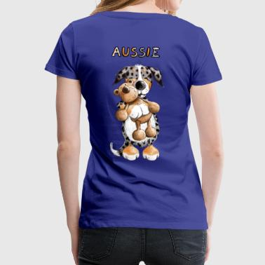 Aussie with teddy - Women's Premium T-Shirt
