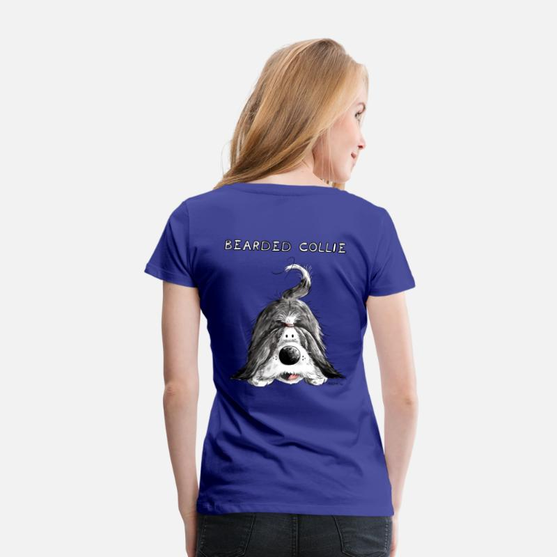 Collie T-shirts - Bearded Collie - T-shirt premium Femme bleu roi