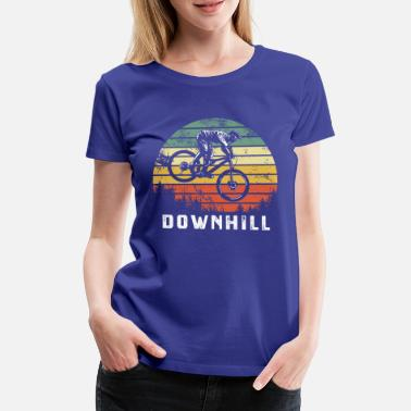 Mountain bike downhill heat MTB rider gift - Women's Premium T-Shirt