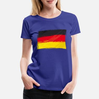 Black Red Gold Flag, Flag, Germany fan - Women's Premium T-Shirt