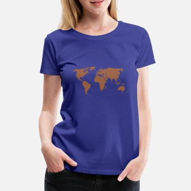World Map Earth Globe Shirt Gave - Dame premium T-shirt